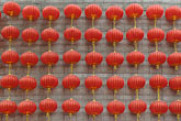 string stock photography | China, Shanghai, Red Chinese lanterns, image id 7-620-3589