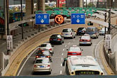 cars on freeway stock photography | China, Shanghai, Traffic on city street, image id 7-620-3778