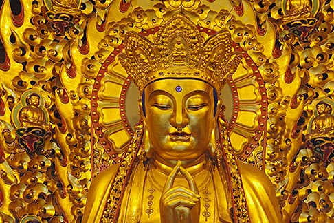 image 7-620-39 China, Shanghai, Buddha, Longhua Temple