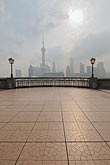 vertical stock photography | China, Shanghai, Bund Promenade and Pudong skyline, image id 7-620-3991