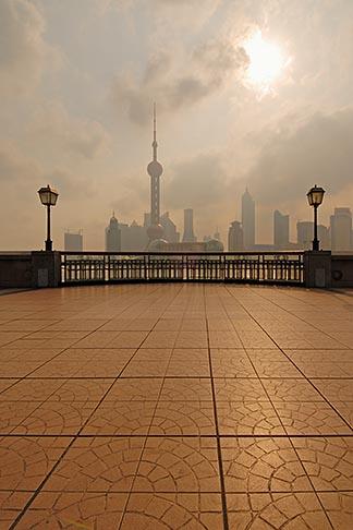 image 7-620-3995 China, Shanghai, Bund Promenade and Pudong skyline