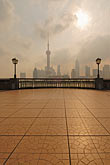 vertical stock photography | China, Shanghai, Bund Promenade and Pudong skyline, image id 7-620-3995