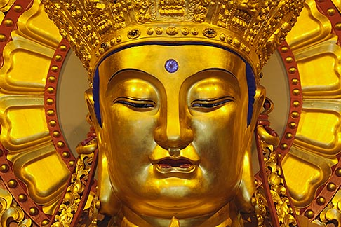 image 7-620-41 China, Shanghai, Buddha, Longhua Temple
