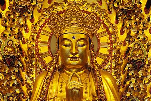 image 7-620-43 China, Shanghai, Buddha, Longhua Temple