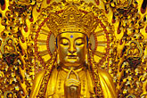 golden buddhas stock photography | China, Shanghai, Buddha, Longhua Temple, image id 7-620-43