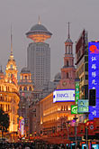 night stock photography | China, Shanghai, Nanjing Road, Pedestrian Shopping Street, image id 7-620-4369