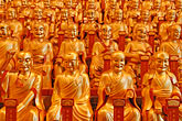 golden buddhas stock photography | China, Shanghai, Golden Buddhas, Longhua Temple, image id 7-620-4863