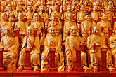 buddha statues stock photography | China, Shanghai, Golden Buddhas, Longhua Temple, image id 7-620-4868