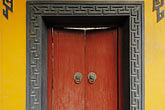 horizontal stock photography | China, Shanghai, Longhua Temple, painted door, image id 7-620-4889