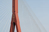 china stock photography | China, Shanghai, Yangpu Bridge, cable-stayed bridge across the Huangpu River, image id 7-620-9248