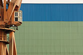 abstract stock photography | China, Shanghai, Crane in shipyard, image id 7-620-9251