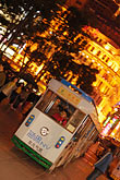 night stock photography | China, Shanghai, Nanjing Road, Pedestrian shopping street, tourist trolley, image id 7-620-9722