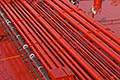 pipes on oil tanker stock photography | Shipping, Pipes on oil tanker, image id 7-677-4927