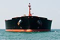 bow view stock photography | Shipping, Oil Tanker, low angle direct view from the bow, image id 7-677-5108