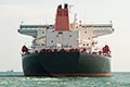 bow view stock photography | Shipping, Oil tanker, low angle direct view from the bow, image id 7-677-5184