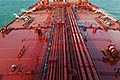 deck of oil tanker stock photography | Shipping, Deck of oil tanker, pipes and valves, image id 7-677-9065