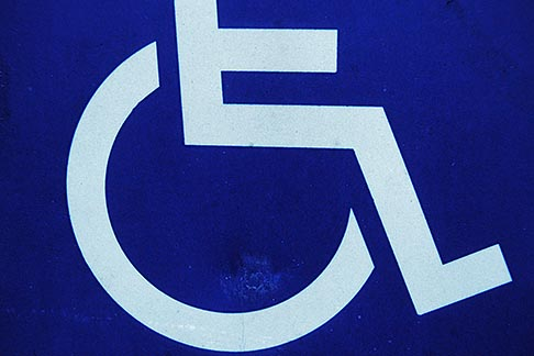 image 1-53-17 Sign, Handicapped access sign
