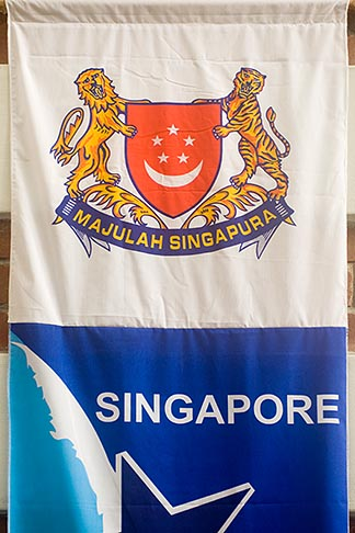 image 7-680-4305 Singapore, Banner with Singapore coat of arms