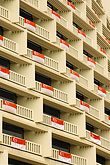 singapore stock photography | Singapore, Hotel balconies draped with Singapore flag, image id 7-680-4567