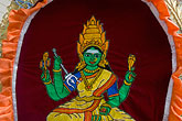 horizontal stock photography | Religion, Tapestry of seated Hindu goddess, image id 7-680-8696