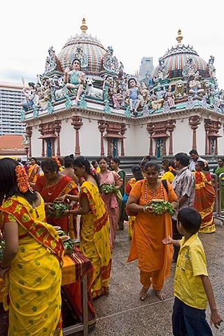 image 7-680-8717 Singapore, Sri Mariamman Temple, Hindu festival
