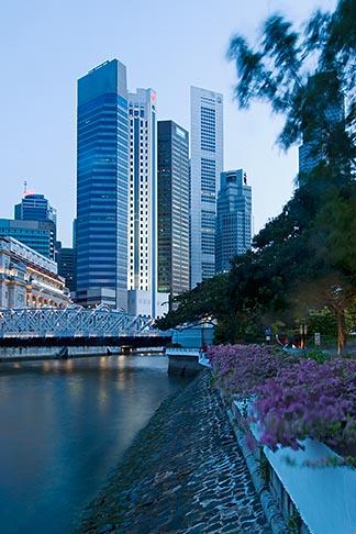 image 7-680-9699 Singapore, Downtown skyline at night