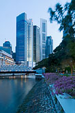vertical stock photography | Singapore, Downtown skyline at night, image id 7-680-9699