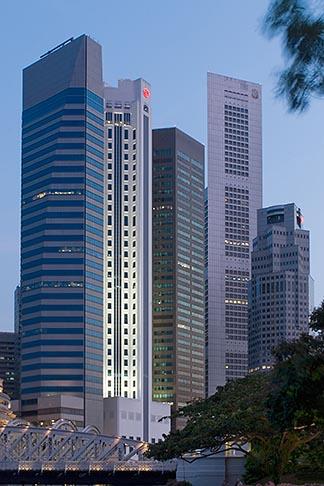 image 7-680-9706 Singapore, Downtown skyline at night