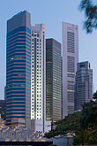 vertical stock photography | Singapore, Downtown skyline at night, image id 7-680-9706