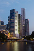 downtown skyline at night stock photography | Singapore, Downtown skyline at night, image id 7-680-9712