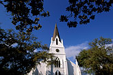 church steeple stock photography | South Africa, Stellenbosch, Dutch Reformed Church, 1863, image id 1-410-12