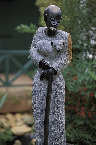 image 1-410-69 African Art, Sculpture, Jesus the Good Shepherd