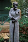 vertical stock photography | African Art, Sculpture, Jesus the Good Shepherd, image id 1-410-69