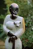 vertical stock photography | African Art, Sculpture, Jesus the Good Shepherd, image id 1-410-70