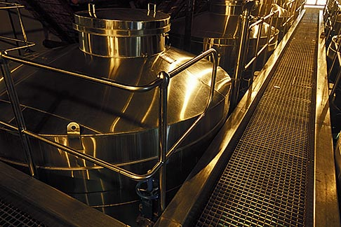 image 1-421-85 South Africa, Stellenbosch, Wine fermentation tanks, Rustenberg winery
