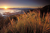 grasses stock photography | South Africa, Cape Town, Sunrise over Table Mountain, image id 1-425-13