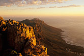 table mountain stock photography | South Africa, Cape Town, Table Mountain summit at dusk, image id 1-425-37