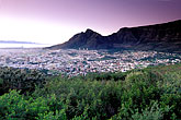 view of city stock photography | South Africa, Cape Town, Sunrise over Table Mountain, image id 1-425-8