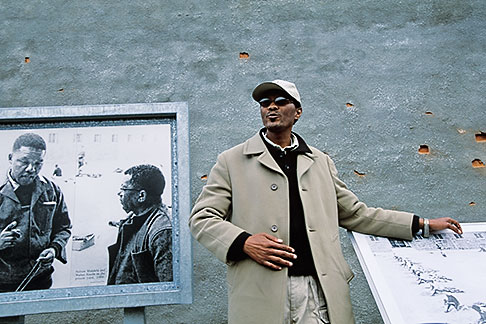 image 1-430-27 South Africa, Robben Island, Former political prisoner, now a prison tour guide