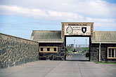 robben island stock photography | South Africa, Robben Island, Entrance gate, image id 1-430-56