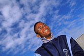 man laughing stock photography | South Africa, Robben Island, On the ferry, image id 1-430-67