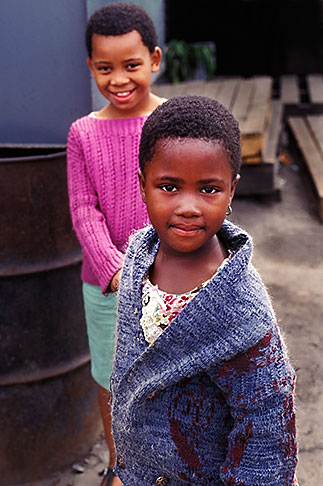 image 5-458-22 South Africa, Cape Town, Xhosa children, Langa township
