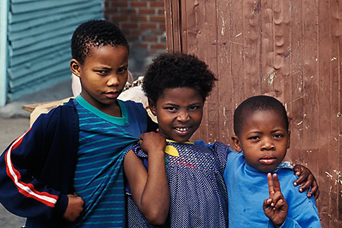 image 5-460-9 South Africa, Cape Town, Xhosa children, Langa township