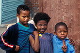 three girls stock photography | South Africa, Cape Town, Xhosa children, Langa township, image id 5-460-9