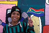 city wall stock photography | South Africa, Cape Town, Homestead boys, Bo Kaap, Malay Quarter, image id 5-462-35