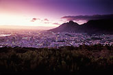 purple stock photography | South Africa, Cape Town, Table Mountain and city at dawn, image id 5-469-43