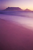 mountain stock photography | South Africa, Western Cape, Table Mountain at dusk from Bloubergstrand, image id 5-475-41