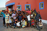 architecture stock photography | South Africa, Cape Peninsula, Children in schoolyard, Masiphumelele, image id 5-487-29