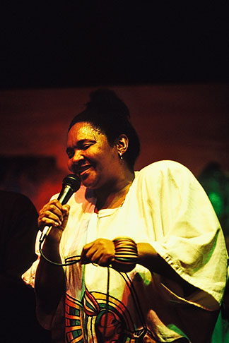 image 5-507-19 South Africa, Cape Town, Sylvia Mdunyelwa, Manenbergs Jazz Cafe