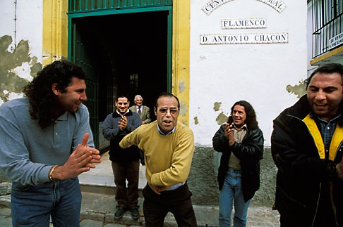 image 1-201-78 Spain, Jerez, Flamenco outside Pena Antonio Chacon